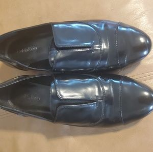 Calvin Klein Shiny Black Loafers